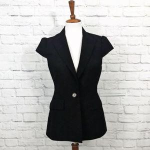 BCBGMaxAzria Wool Blend Cap Sleeve Blazer Size S